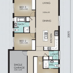 Single Storey Model 167.4 Floorplan