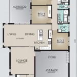 Single Storey Model 234.4 Floorplan