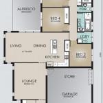 Single Storey Model 234.4 Floorplan