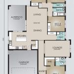 Single Storey Model 245.4 Floorplan
