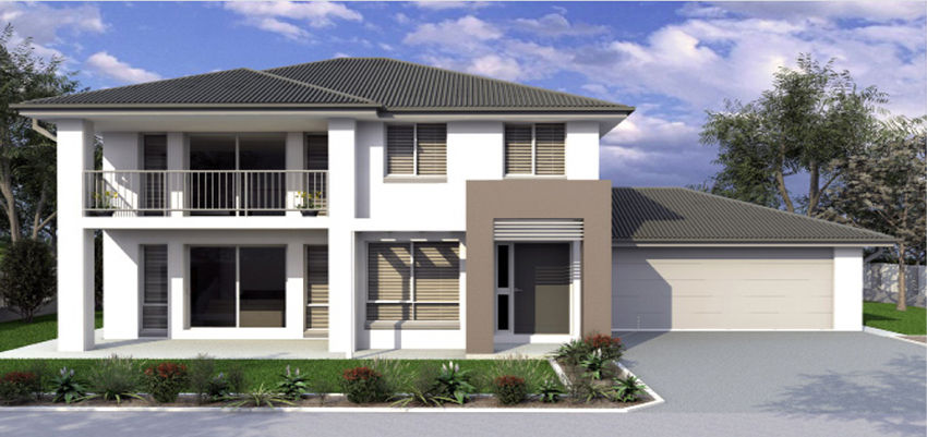 Custom double storey house designs mcmanus builders for Double storey beach house designs