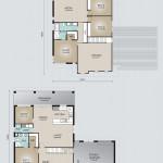 Double Storey Model 341.5 Floorplan