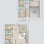 Double Storey Model 349.5 Floorplan