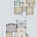 Double Storey Model 388.5 Floorplan